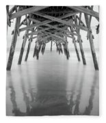 Surfside Pier Exposure Fleece Blanket