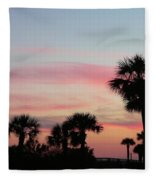 Surfside Sunset Fleece Blanket