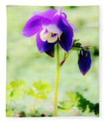 Surreal Columbine Fleece Blanket