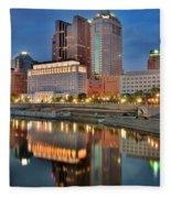 Surreal Columbus Ohio Fleece Blanket