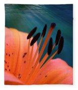 Surreal Orange Lily Fleece Blanket