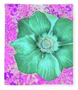 Surreal Poppy  Fleece Blanket