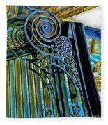 Surreal Reflection And Wrought Iron Fleece Blanket
