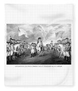Surrender Of Lord Cornwallis At Yorktown Fleece Blanket
