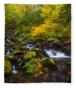 Surrounded By Fall Color Fleece Blanket