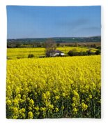 Surrounded By Rapeseed Flowers Fleece Blanket