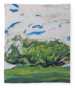 Surrounded With Clouds Fleece Blanket