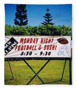 Sushi And Football In Hawaii Fleece Blanket