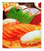 Sushi Plate 1 Fleece Blanket