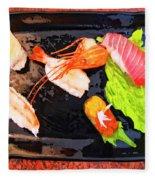 Sushi Plate 2 Fleece Blanket
