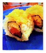 Sushi Plate 3 Fleece Blanket
