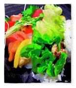 Sushi Plate 5 Fleece Blanket