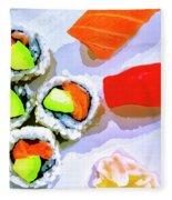 Sushi Plate 6 Fleece Blanket
