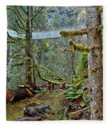Suspended In The Rain Forest Fleece Blanket