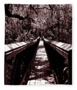 Suspension Bridge Fleece Blanket