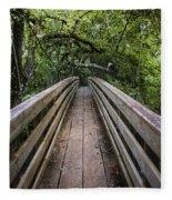 Suspension Bridge To Destiny Fleece Blanket
