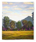 Sutter Buttes In Springtime Fleece Blanket