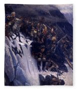 Suvorov Crossing The Alps In 1799 Fleece Blanket