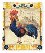 Suzani Rooster 1 Fleece Blanket