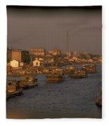 Suzhou Grand Canal Fleece Blanket
