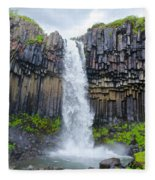 Svartifoss, Iceland Fleece Blanket