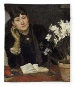 Sven Richard Bergh - The Artist, Julia Beck 1883 Fleece Blanket