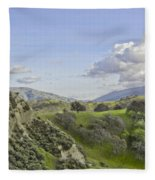 Swallow Bay Cliffs Fleece Blanket