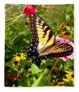 Swallow Tail Butterfly Enjoying The Sunshine Fleece Blanket