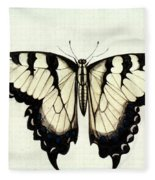 Swallow-tail Butterfly Fleece Blanket