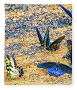 Swallowtail Butterfly Convention Fleece Blanket