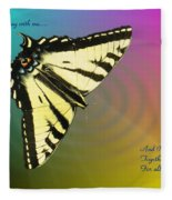 Swallowtail - Come Fly Away With Me Fleece Blanket