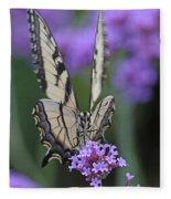 Swallowtail Staredown Fleece Blanket