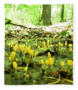 Swamp Becon Fungi Fleece Blanket