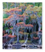 Swamp Dance Fleece Blanket