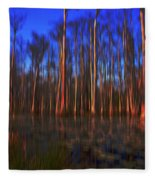 Swamp In Cypress Gardens Fleece Blanket