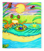 Swamp Life Fleece Blanket
