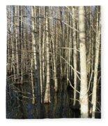 Swamp Trees Fleece Blanket