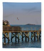 Swampscott Pier Swampscott Ma Fleece Blanket