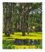 Swampy Beauty Fleece Blanket
