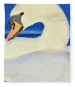 Swan 9 Fleece Blanket