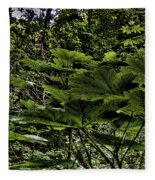 Swan Creek Foliage Fleece Blanket