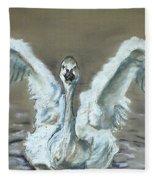 Swan Dance Fleece Blanket