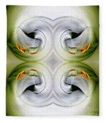 Swan Dancing Fleece Blanket
