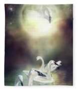 Swan Dreams Fleece Blanket