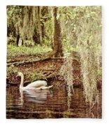 Swan Dreams Fleece Blanket
