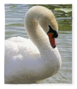 Swan Elegance Fleece Blanket