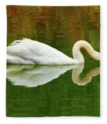 Swan Heart Fleece Blanket