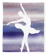 Swan Lake Ballerina Silhouette Fleece Blanket