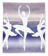 Swan Lake Fleece Blanket
