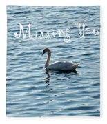Swan Miss You Fleece Blanket